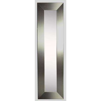 9.5 in. x 21.5 in. Silver Wide Vanity Mirror Single Panel
