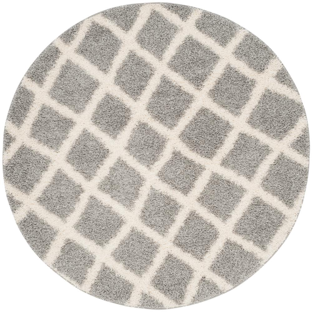 Beverley Gray/Ivory 6 ft. x 6 ft. Round Area Rug