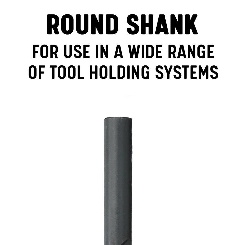 43//64 x 12 OAL HSS Extra Long Drill Bit Straight Shank