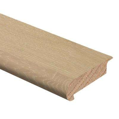 White Oak 3/8 in. Thick x 2-3/4 in. Wide x 94 in. Length Hardwood Stair Nose Molding Overlap