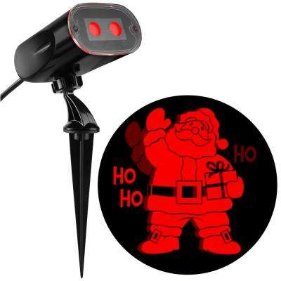Red Projection Strobing Santa Light Stake