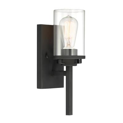 Jedrek 1-Light Black Wall Sconce