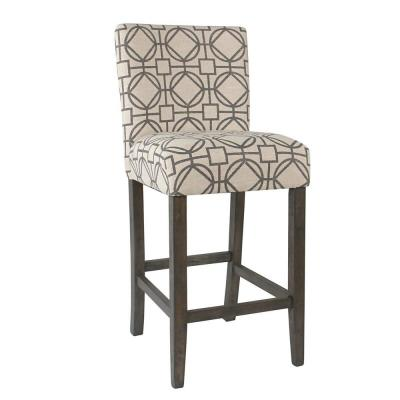 Parsons 29 in. Tan and Gray Bar Stool