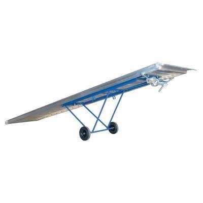 1600 lb. Capacity 168 in. x 28 in. Aluminum Walk Ramp with Adjustable Wheels