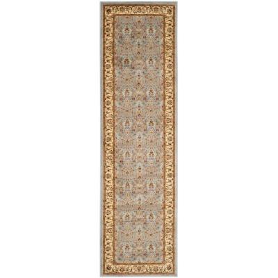 Lyndhurst Light Blue/Ivory 2 ft. x 21 ft. Runner Rug