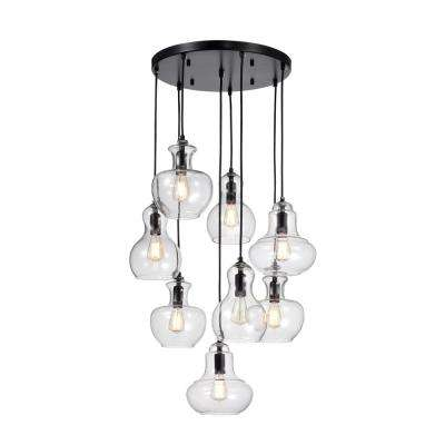 Beveen 8-Light Black Pendant