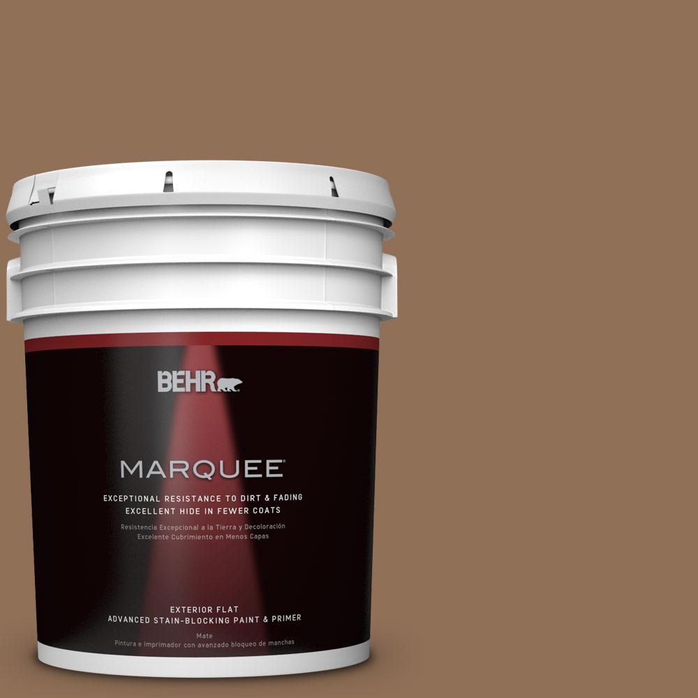 5-gal. #PMD-107 Shaved Chocolate Flat Exterior Paint