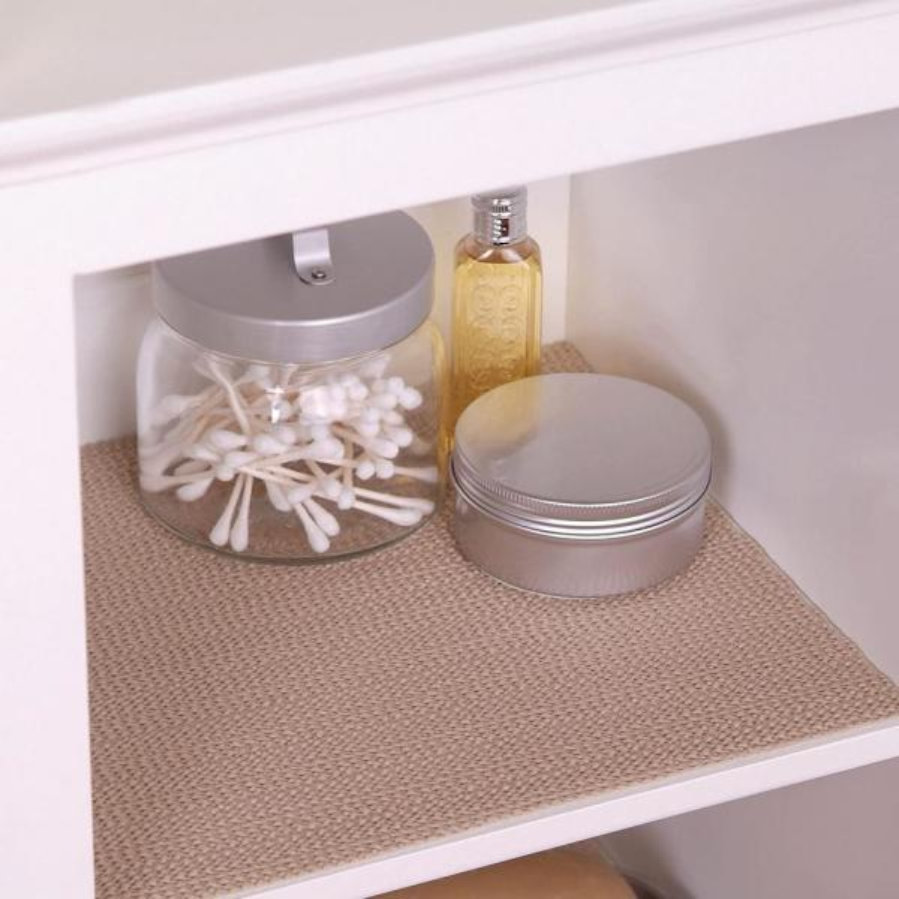 Con Tact Grip Taupe Shelf Drawer Liner, Kitchen Cabinet Shelf Liner Home Depot