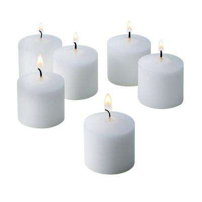 10 Hour White Unscented Votive Candle (Set of 36)