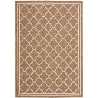 Courtyard Brown/Bone 7 ft. x 10 ft. Indoor/Outdoor Area Rug