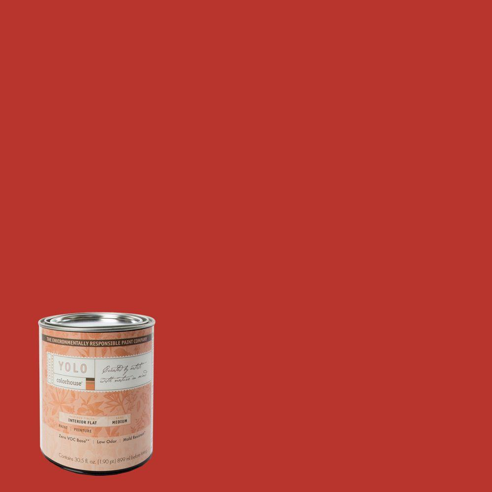 YOLO Colorhouse 1 Qt. Create .04 Flat Interior Paint-DISCONTINUED