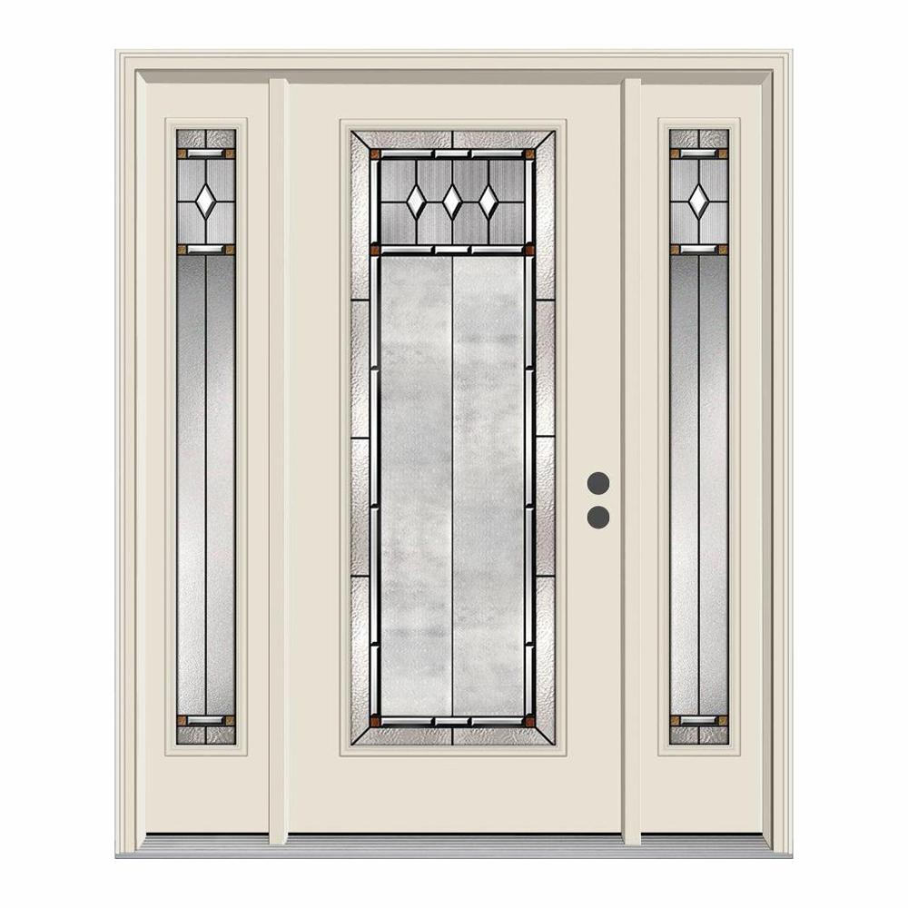 Jeld Wen 62 In X 80 Full Lite Mission Prairie Primed Steel Prehung Left Hand Inswing Front Door With Sidelites