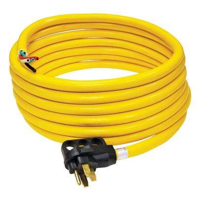 50 Amp 30 ft. RV Cord Grip Handle Plug and 6 in. Loose End