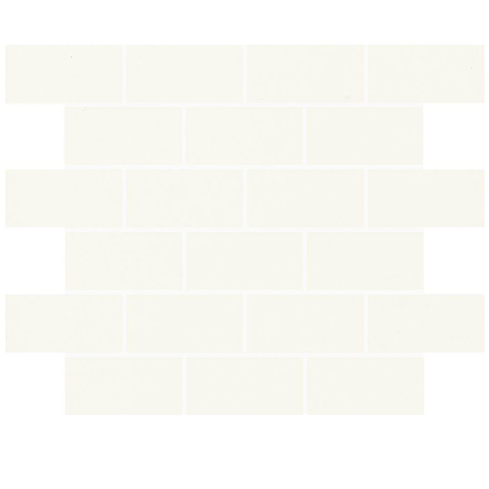 Daltile Rittenhouse Square White 3 In X 6 Modular Ceramic Wall Tile 12 5 Sq Ft Case 010036modhd1p4 The Home Depot