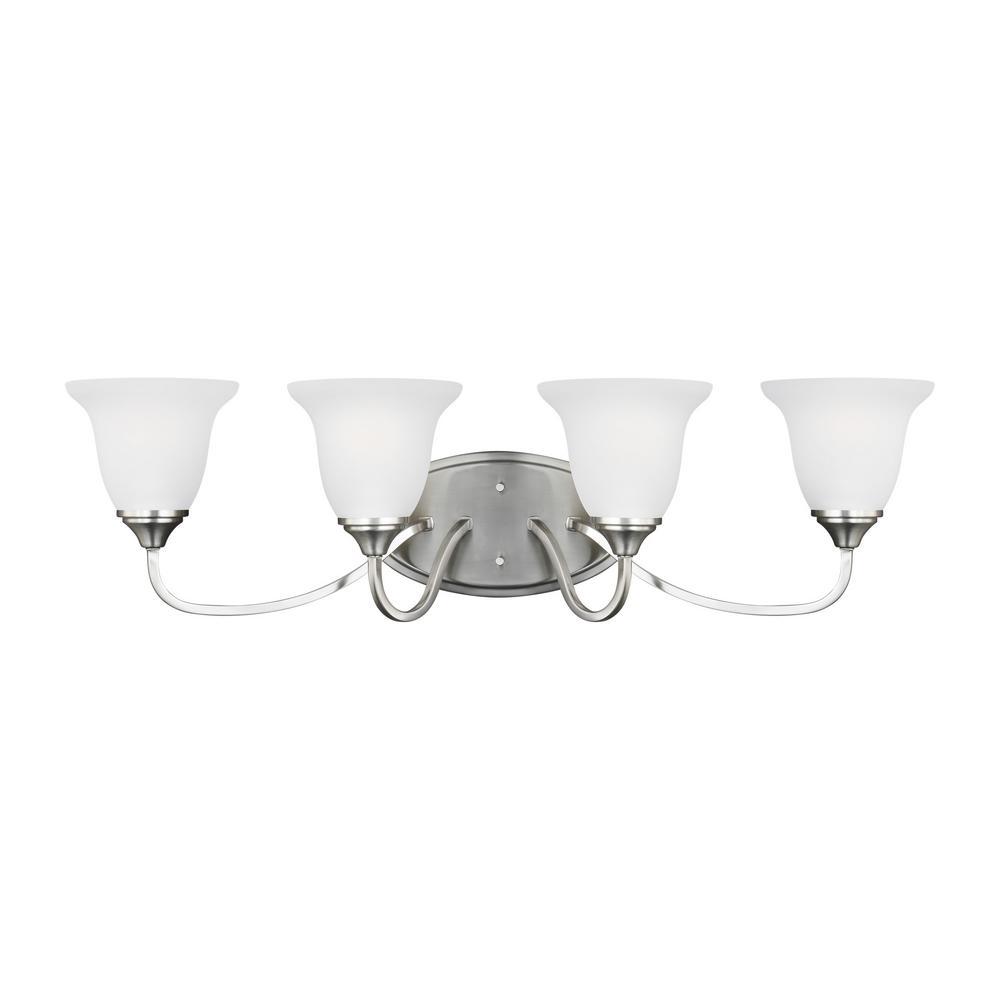 Sea Gull Lighting Clement 4-Light Brushed Nickel Bath Light