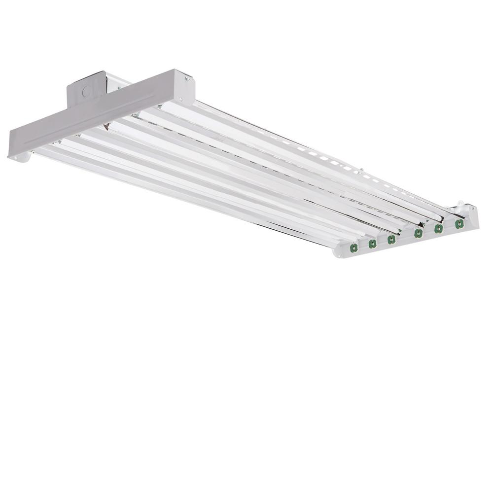 4 Bulb Lamp T8 Led High Bay Warehouse Shop Garage: Lithonia Lighting High Bay Industrial 6-Light Grey Hanging