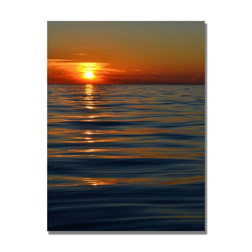 Trademark Fine Art 30 in. x 47 in. Sunset Over the Lake Canvas Art