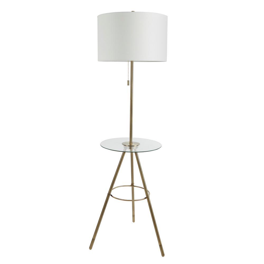 Elijah Patio Furniture.Silverwood Furniture Reimagined Elijah 53 5 In Gold Tripod Base Floor Lamp With Tray Table