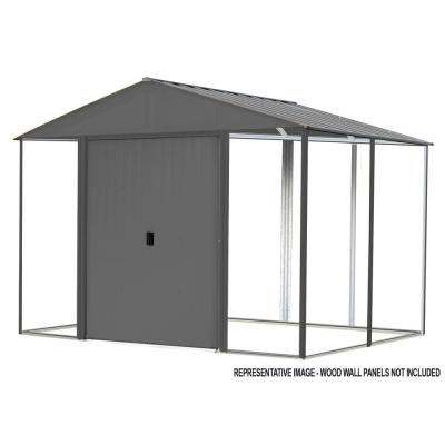 Ironwood 10 ft. W x 12 ft. D Anthracite-Finish Galvanized Steel Custom Hybrid Shed Kit