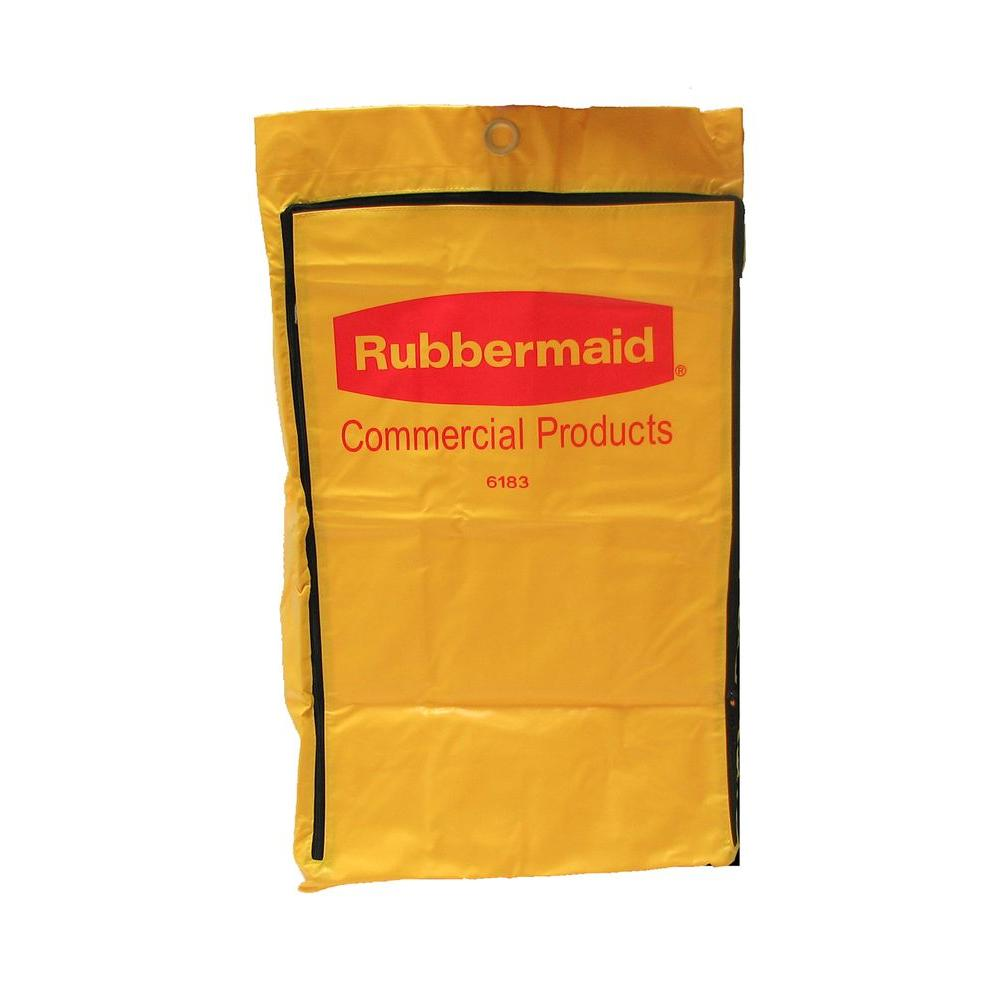 Vinyl Replacement Bag with Zipper for FG6173 Cleaning Cart, Yellow
