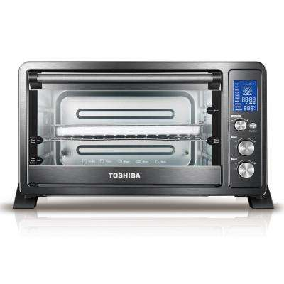 Digital 6-Slice Black Convection Toaster Oven