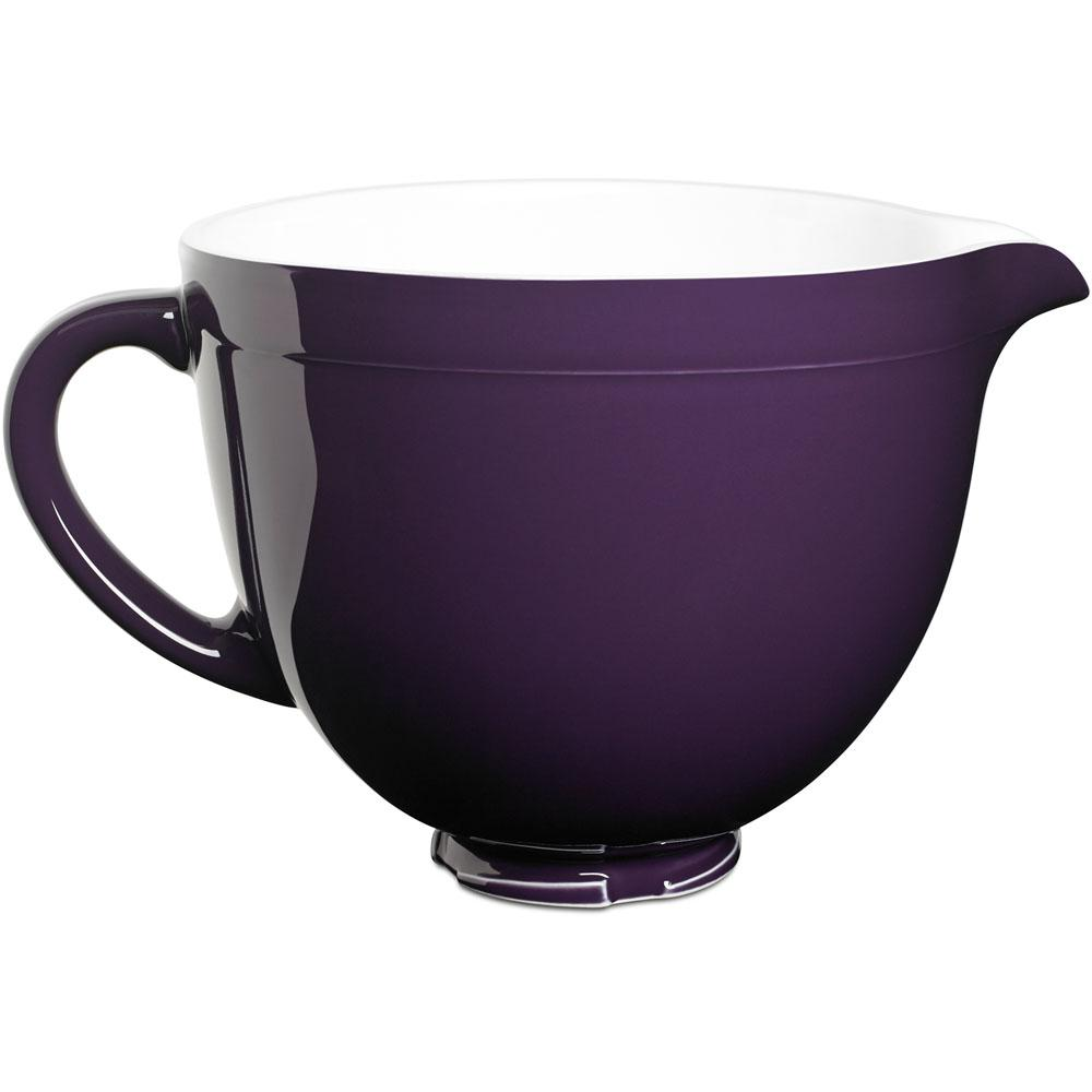 Kitchenaid 5 Qt Tilt Head Ceramic Bowl In Regal Purple