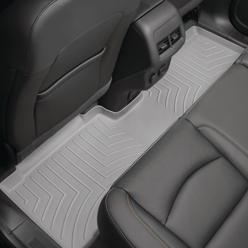 Weathertech Grey Rear Floorliner Hyundai Veloster 2012 2018 Trim Required On Vehicles With Large Front Seatbelt Mounts 463422 The Home Depot