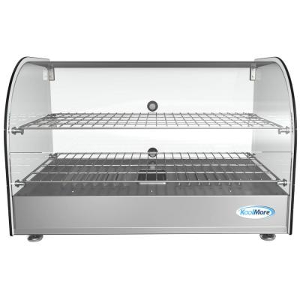 22 in 1.5 cu. Ft. 2 Shelf Countertop Commercial Food Warmer Display Case in Stainless Steel