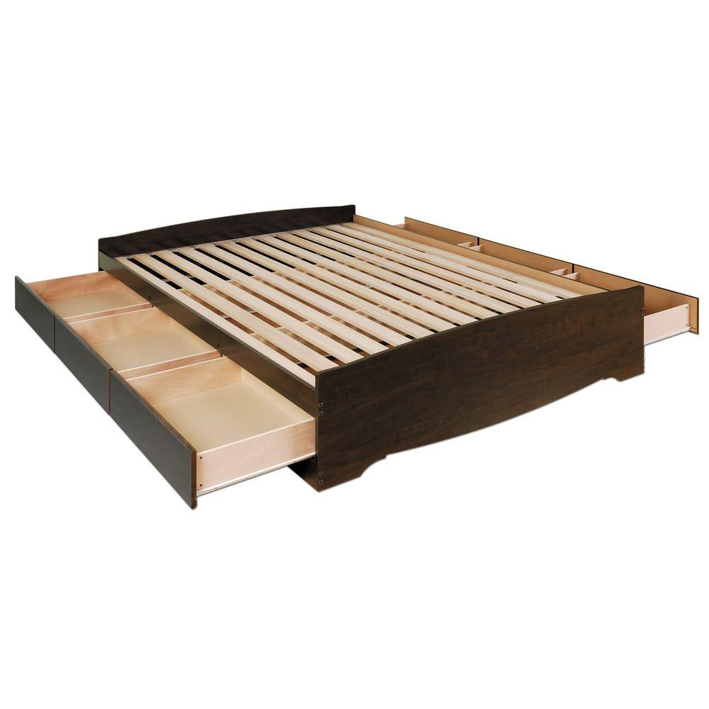 Prepac Fremont Queen Wood Storage Bed-EBQ-6200-3K - The Home Depot