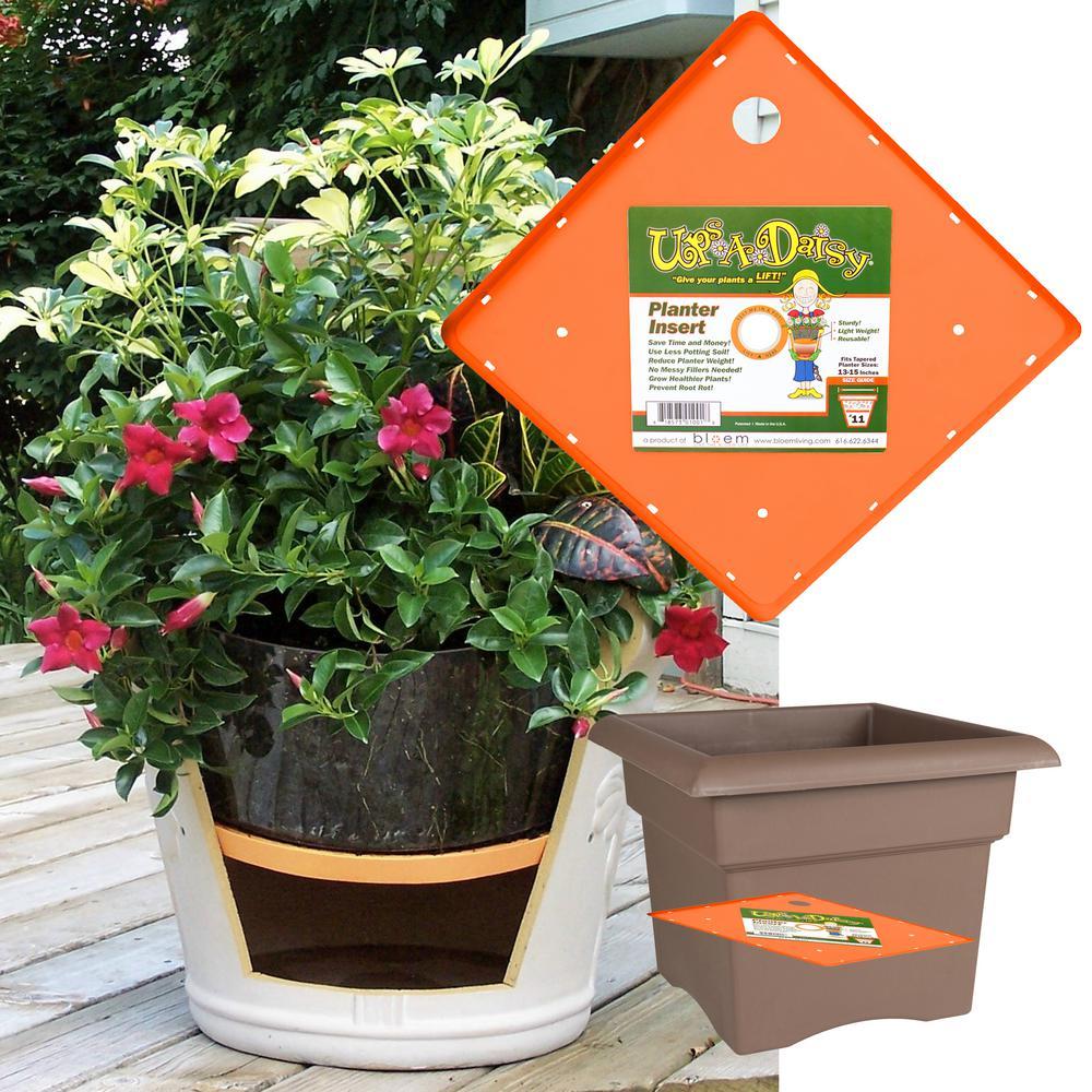 11 in. Plastic Square Ups-A-Daisy Planter Lifter