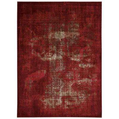 Karma Red 7 ft. 10 in. x 10 ft. 6 in. Area Rug