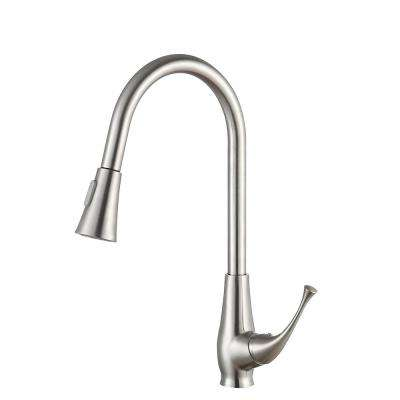 Meadow Single-Handle Pull-Out Sprayer Kitchen Faucet in Brushed Nickel