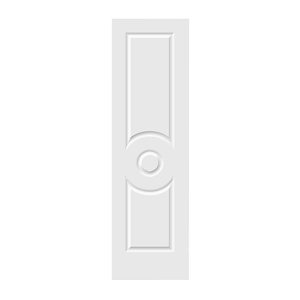 24 in. x 80 in. Primed C3140 3-Panel Solid Core Premium