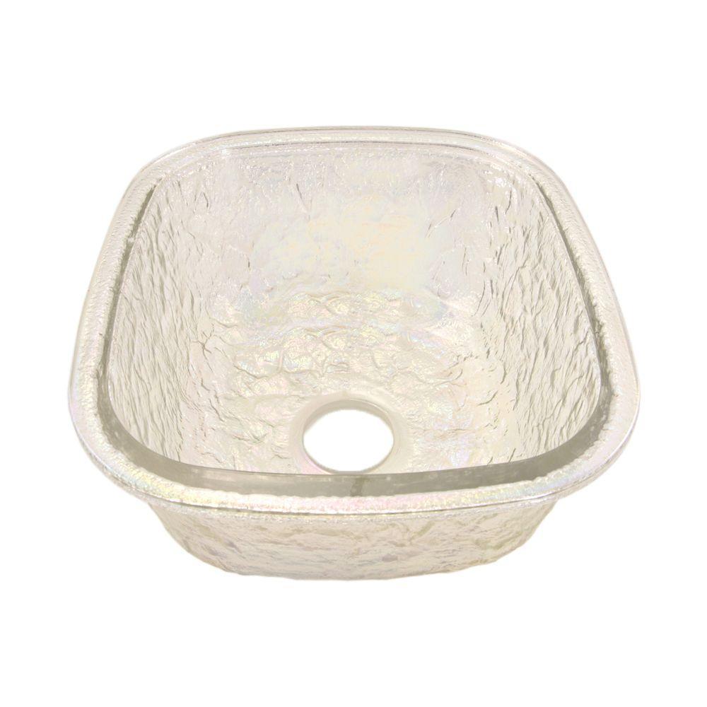 JSG Oceana Undermount Gl 17 in. 0-Hole Kitchen Sink in Crystal ... on
