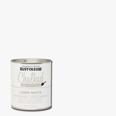 30 oz. Ultra Matte Interior Chalked Paint, Linen White (Case of 2)