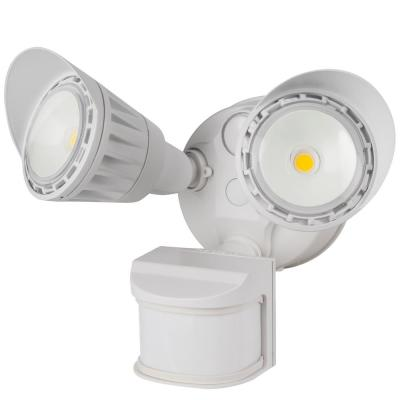 130-Watt Equivalent Integrated LED White Weatherproof Motion Sensor Dusk to Dawn Dual Head Security Area Light 3000K