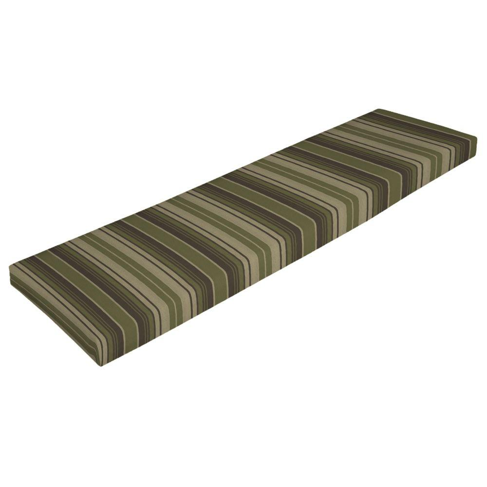 Arden Portland Green Stripe Bench Cushion-DISCONTINUED