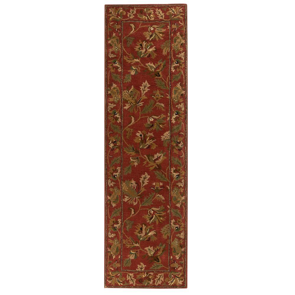 Home Decorators Collection Governor Rust 2 Ft 3 In X 12 Ft Runner 4388785180 The Home Depot