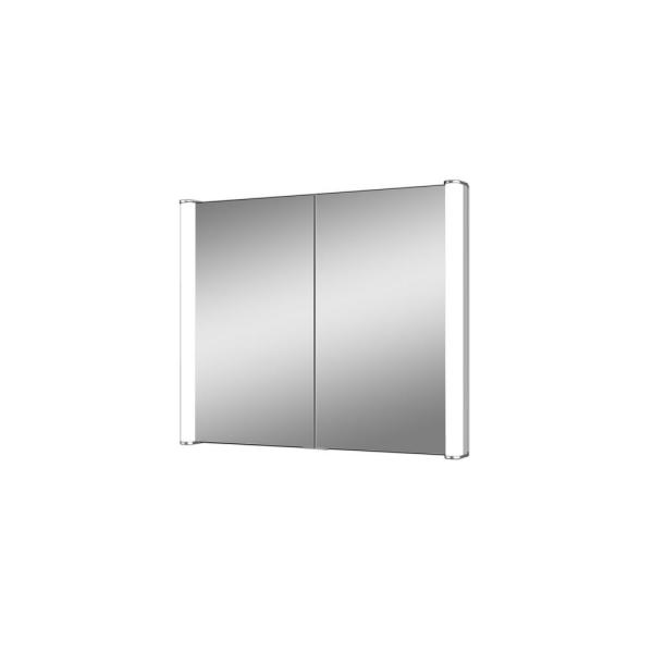 Ace 28 in. x 27.625 in. Lighted Impressions Frameless Recessed LED Mirror Medicine Cabinet in Aluminum