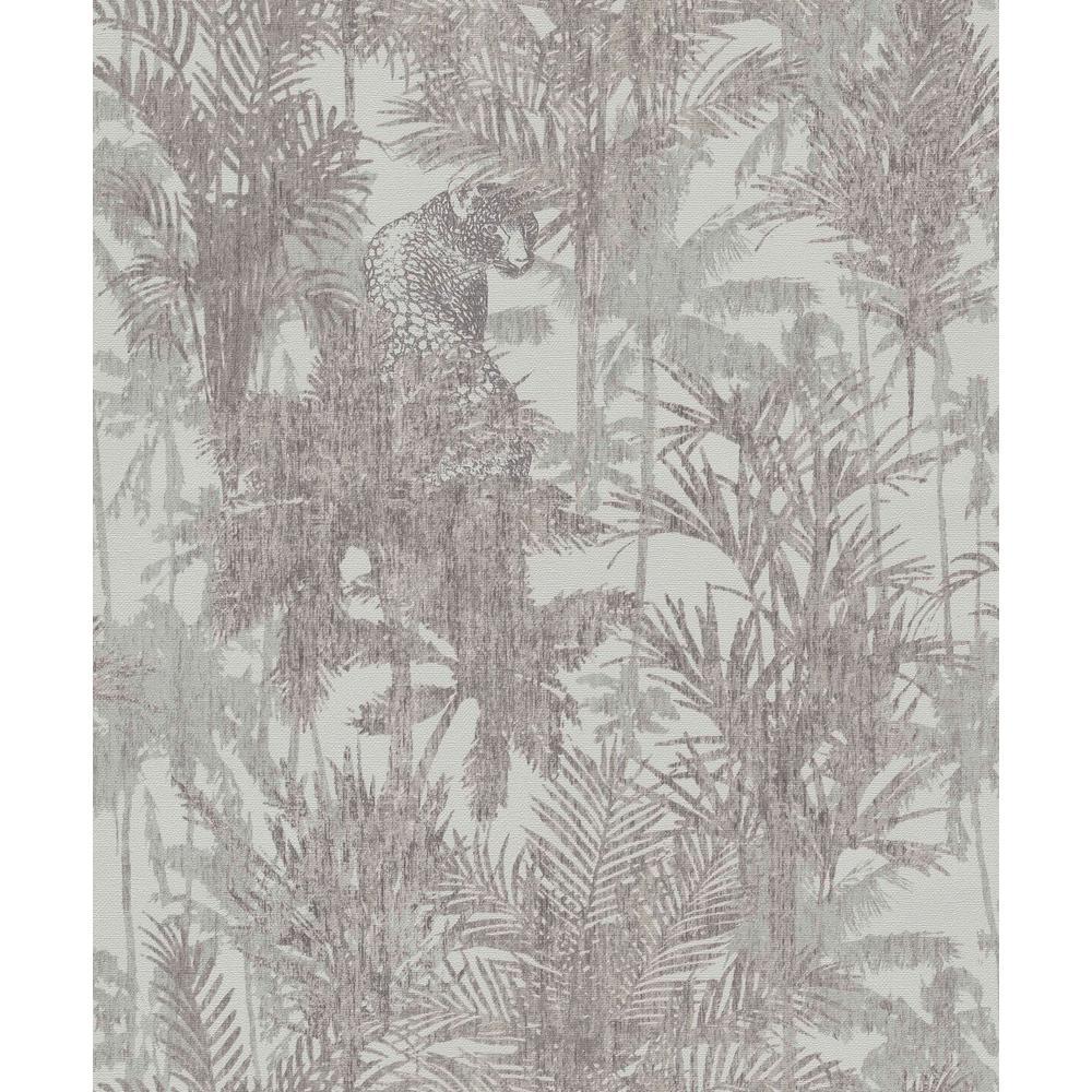 Grey & Beige Hidden in the Jungle Wallpaper