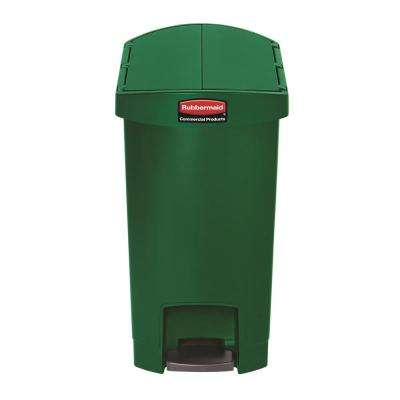 Slim Jim Step-On 8 Gal. Green Plastic End Step Trash Can