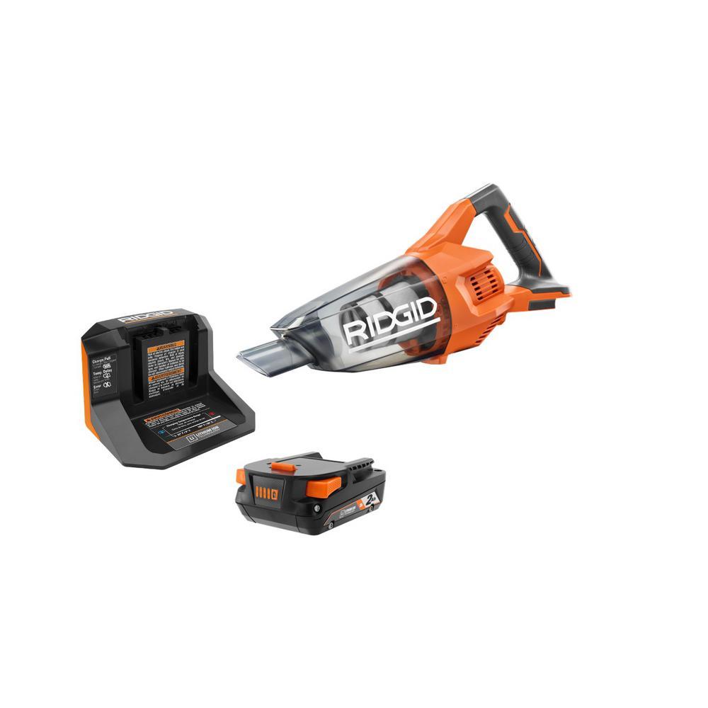 Ridgid 18V Cordless Compact Vacuum Kit with 2.0 Ah Battery