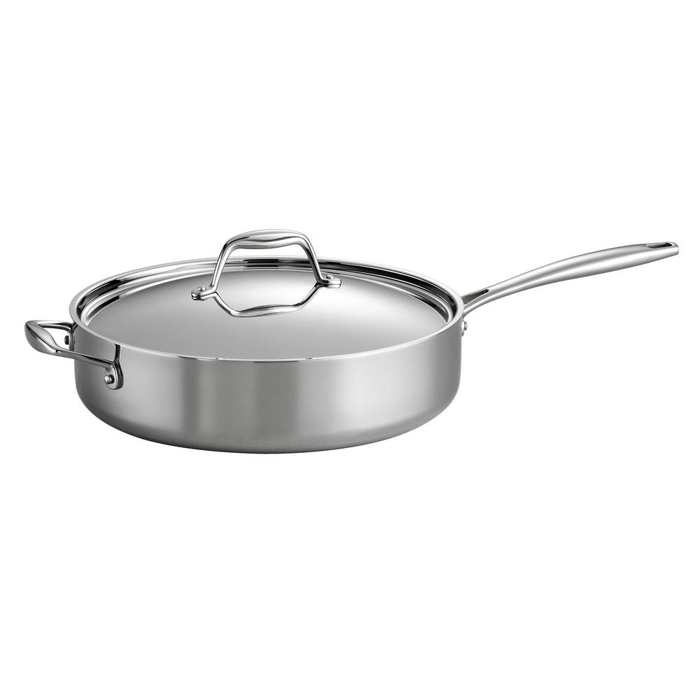 Tramontina Gourmet 5 Qt. Try-Ply Clad Saute Pan with Lid