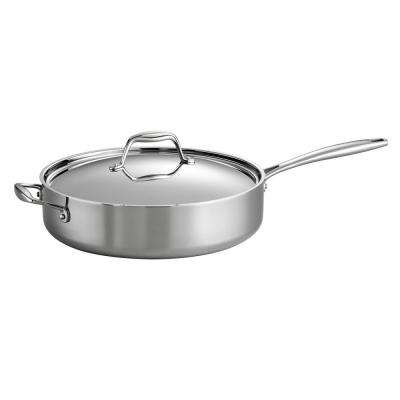 Gourmet 5 Qt. Try-Ply Clad Saute Pan with Lid