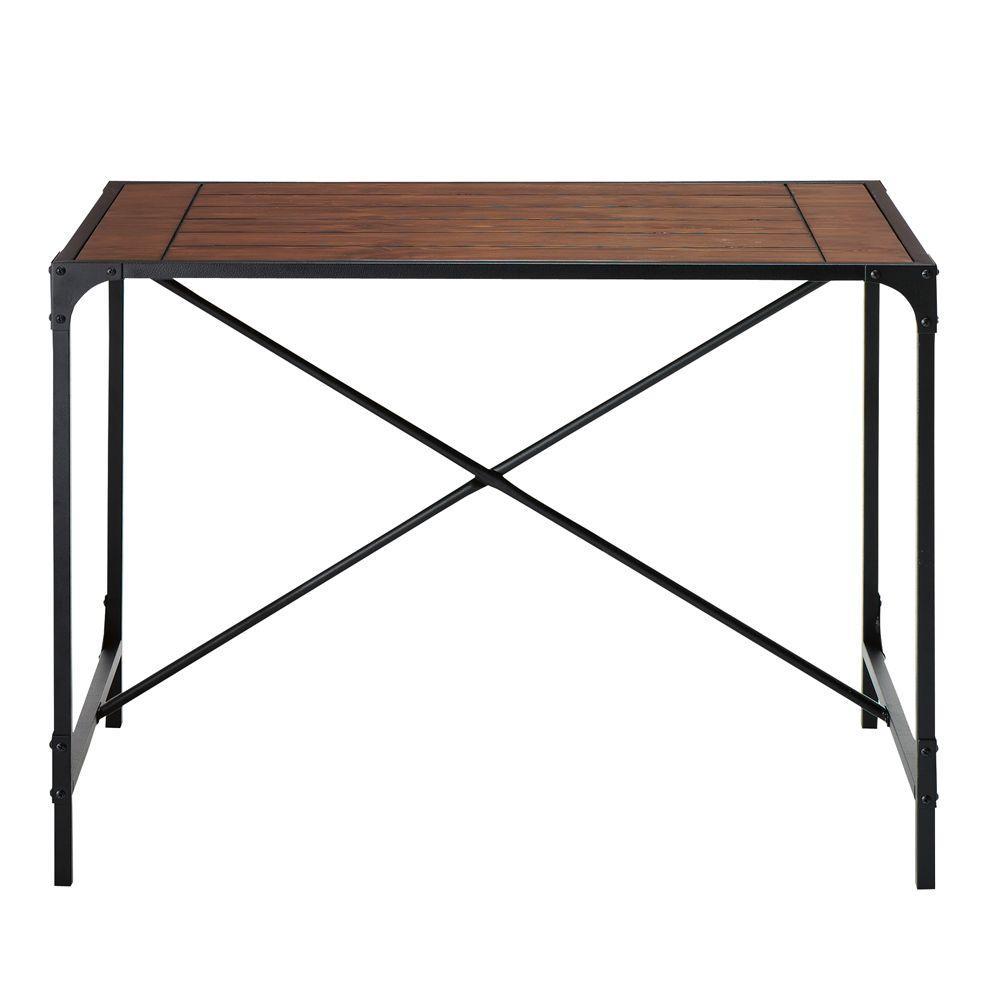Home Decorators Collection Industrial Empire Black Pub/Bar Table 0823000910