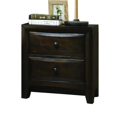 Amelia 2-Drawer 17 in. x 34 in. x 25 in. Walnut Wood Nightstand