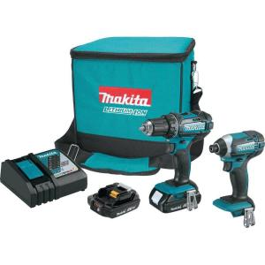 Makita 18-Volt LXT Lithium-Ion Cordless Driver Drill and Impact Driver Combo Kit (2-Tool) w/ (2) 2Ah... by Makita