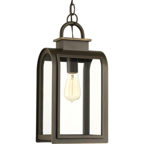 Refuge Collection 1-Light Outdoor Oil-Rubbed Bronze Hanging Lantern