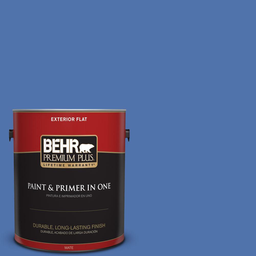 BEHR Premium Plus 1-gal. #590B-6 Flying Fish Flat Exterior Paint