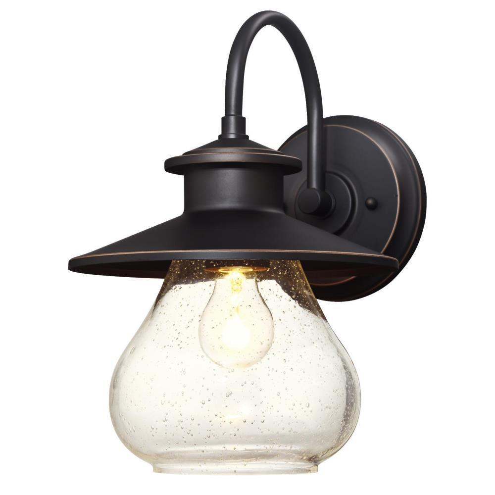 Westinghouse Delmont Oil Rubbed Bronze 1-Light with Highlights Outdoor Wall Lantern Sconce